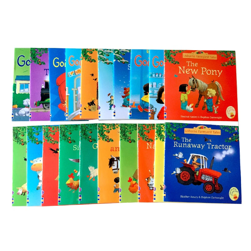 5 Books 15x15cm Usborne Best Picture Books Children Baby famous Story English Farmyard Tales Series Farm story Kids English Book