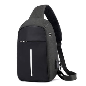 2020 new Single Shoulder Backpack Anti-theft Backpack Men's Burglar USB Charging Crossbody Bag Men&Female Stealth Zipper Bag