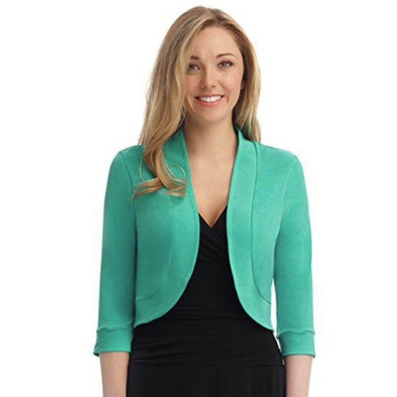 Women Short Jacket Solid Autumn Spring Office Lady Long Sleeve Femme Coat Plus Size High Quality Fashion Loose Jackets 4XL 5XL