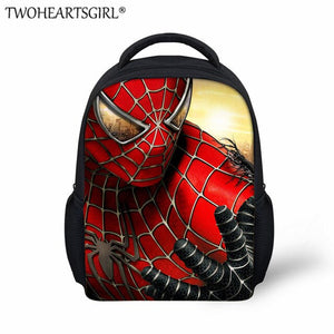 TWOHEARTSGIRL Classic Spiderman Print Kids Schoolbag Kindergarten Boys Girls Backpack Small Baby Toddler Book Bag Bag Packs
