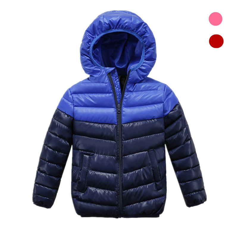 2019 new Spring Children Coat Autumn Kids Jacket Boys Outerwear stripe Down Jacket for Boys Warm Hooded for 3-10 years Children