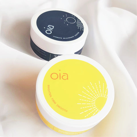 Oia Hydrogel Eye Patches to brighten the under-eye area and remove wrinkles and fine lines. Treatment for crow's feet