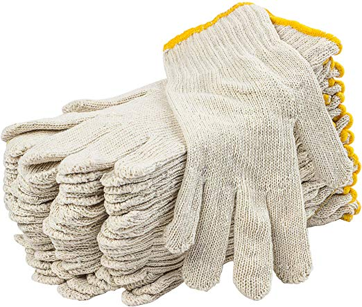 Cotton Knit Gloves 12pk