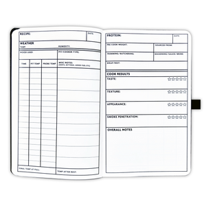 Pitmaster Log Book w/ Blank Recipe Templates