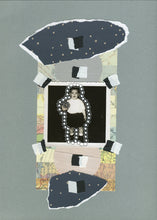 Load image into Gallery viewer, Neutral Colours Mixed Media Collage Artwork On Paper - Naomi Vona Art