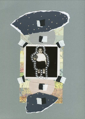 Neutral Colours Mixed Media Collage Artwork On Paper - Naomi Vona Art