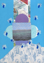 Load image into Gallery viewer, Seascape Handmade Mixed Media Collage Art On Paper - Naomi Vona Art