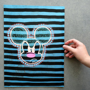 Mickey Mouse Inspired Contemporary Drawing - Naomi Vona Art