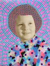 Load image into Gallery viewer, Vintage Baby Girl Art Collage Altered With Pens And Washi Tape - Naomi Vona Art