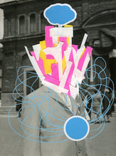 Load image into Gallery viewer, Vintage Portrait Altered With Pens And Stickers - Naomi Vona Art