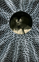 Load image into Gallery viewer, Couple Kissing Vintage Portrait Photo Altered By Hand - Naomi Vona Art