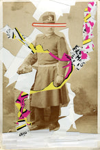 Load image into Gallery viewer, Collage Of Vintage Man In Uniform Photography - Naomi Vona Art