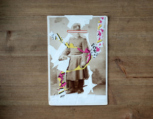 Collage Of Vintage Man In Uniform Photography - Naomi Vona Art