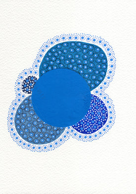 Blue Abstract Organic Art Collage - Naomi Vona Art