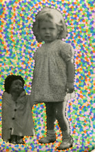 Load image into Gallery viewer, Confetti Decoration On Vintage Baby Girl Portrait - Naomi Vona Art