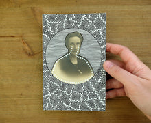 Load image into Gallery viewer, Vintage Woman Portrait Art Altered By Hand - Naomi Vona Art