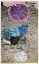 Load image into Gallery viewer, Collage On Vintage Kids At The Beach Portrait Photo - Naomi Vona Art