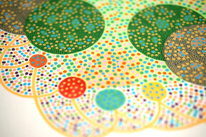 Dotty Abstract Composition Art Collage - Naomi Vona Art