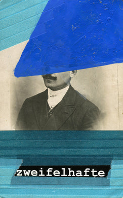 Altered Retro Man With Moustache Photography - Naomi Vona Art