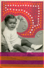 Load image into Gallery viewer, Vintage Baby Boy Portrait Photo Altered With Tape And Pens - Naomi Vona Art
