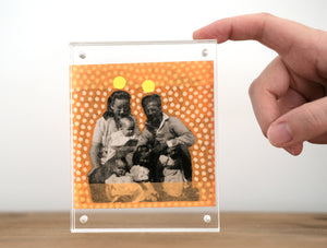Vintage Family Portrait Art Collage - Naomi Vona Art