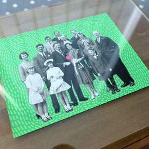 Wedding Photo Gift, Contemporary Collage Art - Naomi Vona Art