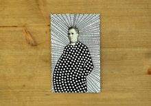 Load image into Gallery viewer, Altered Vintage Priest Portrait Art - Naomi Vona Art