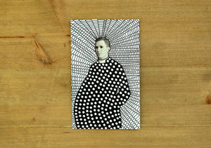 Altered Vintage Priest Portrait Art - Naomi Vona Art