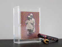 Load image into Gallery viewer, Vintage Mother With Daughter Photo Altered With Dotty Decorations - Naomi Vona Art