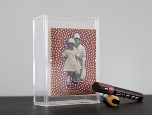 Vintage Mother With Daughter Photo Altered With Dotty Decorations - Naomi Vona Art