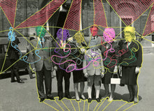 Load image into Gallery viewer, Vintage Classic Family Portrait Altered With Pens - Naomi Vona Art