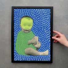 Charger l'image dans la galerie, Funny Vintage Baby Photography Altered With Pens And Washi Tape - Naomi Vona Art