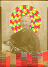Load image into Gallery viewer, Baby Boy Vintage Portait Picture Altered By Hand - Naomi Vona Art