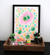 Load image into Gallery viewer, Pastel Neon Rainbow Abstract Collage Art - Naomi Vona Art