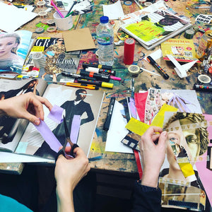 From Fashion Ad To Protest - Live Online Art Class With Naomi Vona - Naomi Vona Art