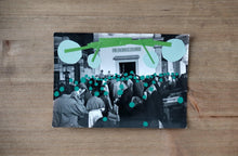 Load image into Gallery viewer, Green Contemporary Art Collage - Naomi Vona Art