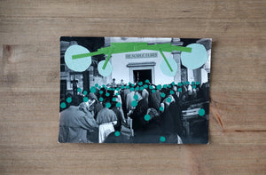 Green Contemporary Art Collage - Naomi Vona Art