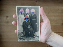 Load image into Gallery viewer, Mushroom Head Altered Vintage Family Portrait Photography - Naomi Vona Art