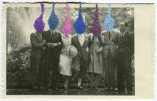 Carica l'immagine nel visualizzatore di Gallery, Retro Group Portrait Photography Altered With Pens - Naomi Vona Art