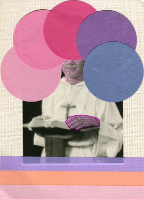 Pink And Purple Shades Art Collage - Naomi Vona Art