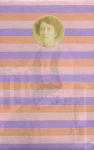 Pink Pastel Shades Striped Collage Art Created With Washi Tape On Vintage Photo - Naomi Vona Art