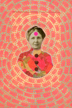 Load image into Gallery viewer, Vintage elegant Lady Photo Altered with Neon Colors - Naomi Vona Art