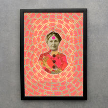 Load image into Gallery viewer, Victorian Style Fine Art Print Altered With Neon Colours - Naomi Vona Art