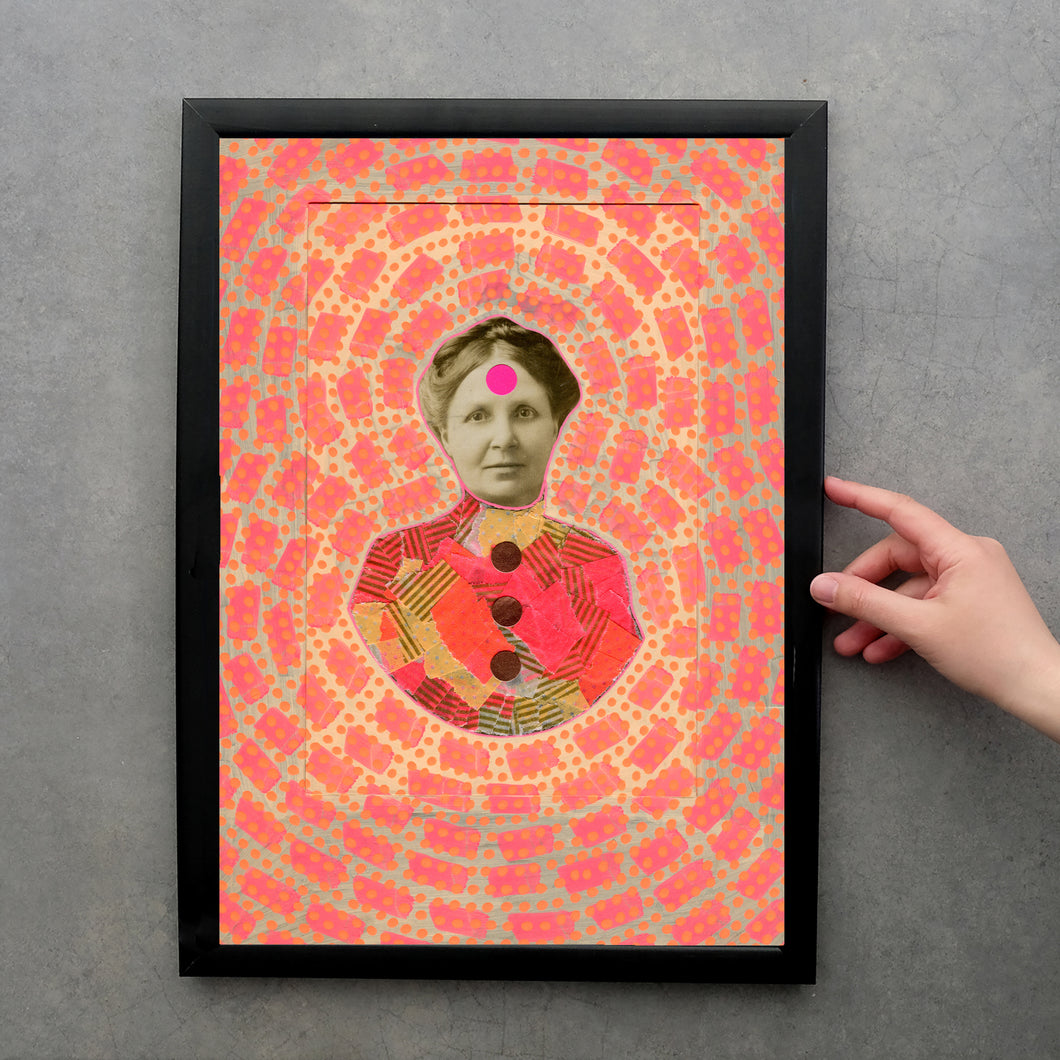 Victorian Style Fine Art Print Altered With Neon Colours - Naomi Vona Art