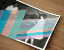 Carica l'immagine nel visualizzatore di Gallery, Vintage Couple Dancing Portrait Altered With Tape - Naomi Vona Art