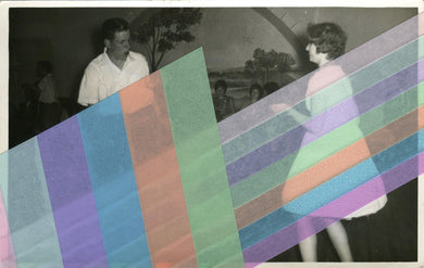 Vintage Couple Dancing Portrait Altered With Tape - Naomi Vona Art