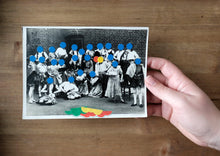 Load image into Gallery viewer, Dotty Decoration Art On Vintage Group Shot - Naomi Vona Art