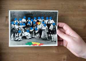 Dotty Decoration Art On Vintage Group Shot - Naomi Vona Art