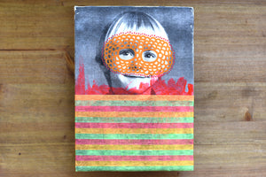 Retro Boy Portrait Art Collage - Naomi Vona Art