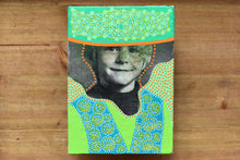 Load image into Gallery viewer, Boy Portrait Vintage Art Collage On Canvas - Naomi Vona Art